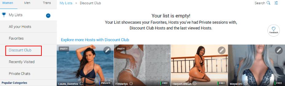 discount club with cum girls